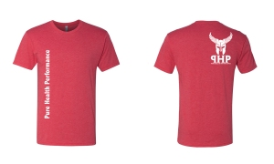 red tshirt mockup